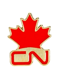 Lapel Pin - Red CN & Maple Leaf