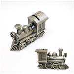 Pewter Finish Train Bank