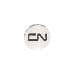 Lapel pin - Round CN logo with magnetic back