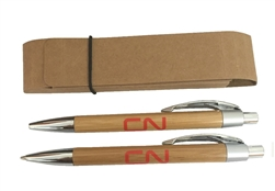 Bamboo pen & pencil set