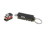 3D USB - 8GB locomotive Keychain