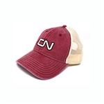 CN - Red washed cotton twill cap