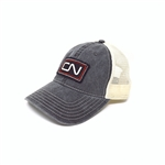 CN - Black washed cotton twill cap